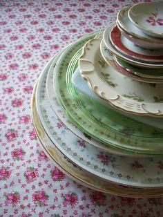Vintage Mismatched Plates