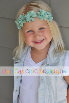 Floral halo headband flower girl by DanicasChicBowtique on Etsy, $12.25