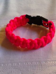 Hot Pink Parachute Cord Bracelet by laurenashley923 on Etsy, $6.50