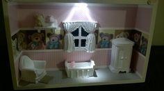 Quadro De Bebê Em Miniatura com LED