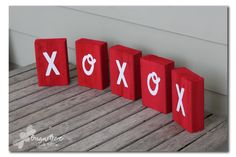 XOXO Blocks - a Silhouette Vinyl project perfect for Valentine's Day or customize for any holiday, party or event  - Sugar Bee Crafts