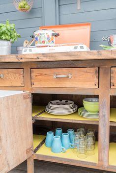 diy - upcycling outdoor küche aus einer werkbank | kitchens, Hause deko