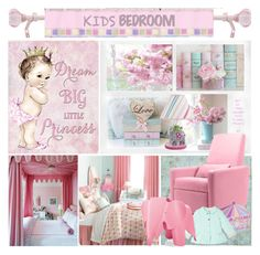 """Girl's Bedroom"" by yours-styling-best-friend ❤ liked on Polyvore featuring interior, interiors, interior design, home, home decor, interior decorating, Sweet Jojo Designs, Jonathan Adler, Dot & Bo and Monte"