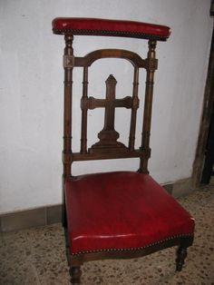 silla reclinatorio de madera de nogal