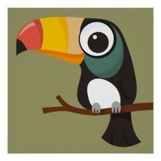 Search for customizable Toucan Illustration posters & photo prints from Zazzle. Pottery Painting, Fabric Painting, Oversized Wall Art, Sketch Painting, Bird Drawings, Art Plastique, Bird Art, Cute Art, Art Lessons