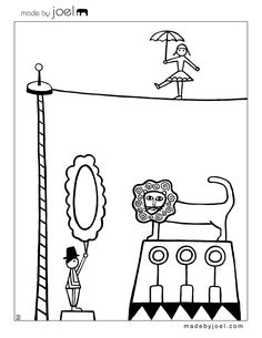 New Circus Coloring Sheets! Circus Crafts, Circus Art, Circus Theme, Circus Decorations, Carnival Themes, Free Coloring Sheets, Colouring Pages, Puzzle Photo, Circus Pictures