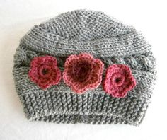 Baby Girl Beanies Knit Baby Girl Hats Baby by PrettyBagsByMia, $16.90