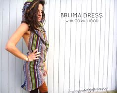 Bruma dress with Cowl Hood happywalletclothing.com  Festival/Hooping/Dance/Movement/Nepalese/Cotton/Custom/Apparel