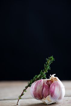 Garlic and Thyme | Food. Art + Style. Photography: Food on black by Nitin Kapoor |