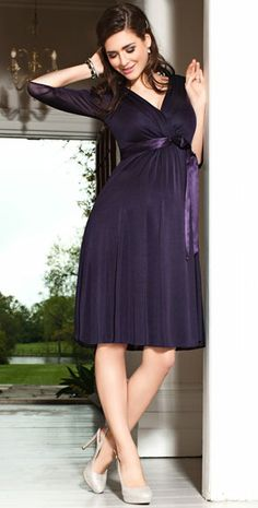 Willow Maternity Dress (Blackberry) by Tiffany Rose
