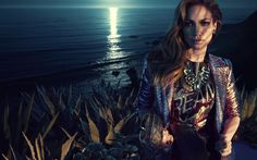 Descargar fondos de pantalla Jennifer López, retrato, noche, el maquillaje, la cantante Estadounidense, mujer bella, J Lo