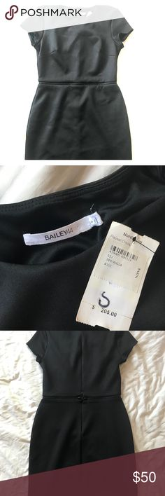 BRAND NWT BAILEY 44 little black dress Brand new with tag, never worn Bailey 44 little black dress in size S. Fits like a 0/2/xs. Can be worn as a dress for a classic elegant look, and can be separated into two pieces; top and bottom for more versatility. Will never go out of style!! Bailey 44 Dresses Mini