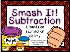 "This is a great hands on activity for practicing subtraction! Students make shapes and then ""smash"" them to show the subtraction problem. They then record their answers on the recording sheet."