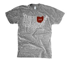 A slightly more regional take than the #Cleveland map shirt from Homage #Ohio $25.00