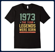 Mens 44th Birthday T-Shirt 1973 The Year Legends Were Born XL Black - Birthday shirts (*Amazon Partner-Link)