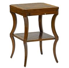 MODERN BY ANTHOLOGY FURNISHINGS — American Tiered Chairside Table.