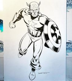 Happy @4th.of.july everyone! @Captain America @commission piece I've @pencilled and @inked Sub me at www.YouTube.com/WaldenWongArt @marvel @avengers @comic @mcu @draw @sketch #ink @marveluniverse @marvellegends Comic Art, Comic Books, Marvel Avengers Comics, Captain America Comic, Apple Model, Watercolor Portraits, Shutter Speed, Deviantart, Gallery