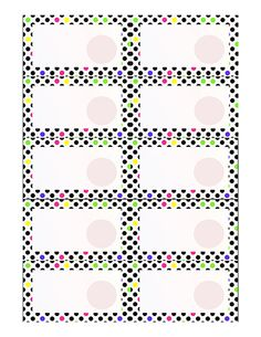 "Colorful dot scratch off template, ready to print and personalize. Uses 1"" #scratchoffstickers"