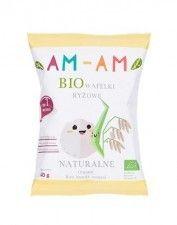 AM AM bio wafelki ryżowe NATURALNE 40g