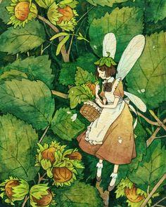 Pretty Art, Cute Art, Fairytale Art, Fairy Art, Cute Illustration, Aesthetic Art, Cute Drawings, Collage Art, Art Inspo