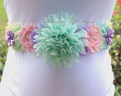Rainbow Sherbert/Pastel maternidad marco, mal del arco iris, cinturón de maternidad, faja, venda del vientre del vientre, género revelan, género neutro, chica