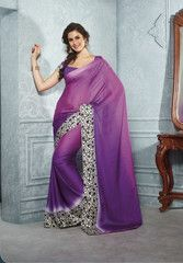 Shades of #purple color wrinkle #crape material casual #saree #sari