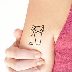 cat tattoo geometric