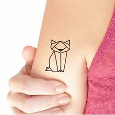 cat tattoo geometric