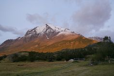Torres del Paine National park - morning view from Hotel Las Torres Torres Del Paine National Park, Morning View, Mount Rainier, Patagonia, Remote, Mountains, World, Travel, Buenos Aires Argentina