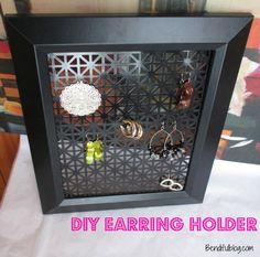 Earring Holder DIY
