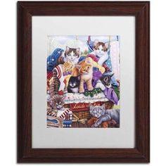 Trademark Fine Art 'Loads of Fun' Canvas Art by Jenny Newland, White Matte, Wood Frame, Size: 11 x 14, Assorted