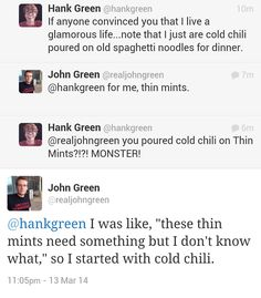 John and Hank Green :D best brother friends FOREVER.
