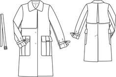 Jacquard Trenchcoat 12/2013 #101   BurdaStyle Patterns