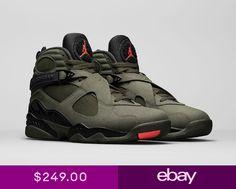 40e331fe4a4 Nike Air Jordan Retro 8 Take Flight Sequoia Mens Size 8.5 - 11.5