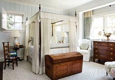 Interior designer Jackye Lanham and architect Norman Askins created this lovely cottage for a couple that decided to downsize after the chil...