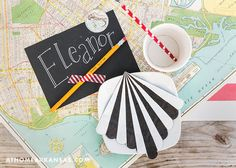 Shindig Paperie owner Trisha Logan throws a crafty back-to-school bash using simple techniques that require minimal clean-up | On the Map | At Home in Arkansas | Back to School | Kid Craft | Party | @Shindi