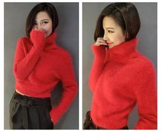 Woman mink cashmere sweater women pure mink cashmere pullovers