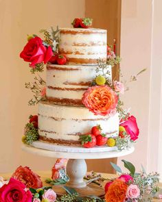 You Should Experience Diy Wedding Cake Recipes At Least Once In Your Lifetime And Here's Why - diy wedding cake recipes How To Make Wedding Cake, Diy Wedding Cake, Do It Yourself Wedding, Rustic Wedding, Homemade Wedding Cakes, Strawberry Cream Cheese Filling, 12 Inch Cake, Homemade Vanilla Cake, Cake Kit