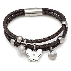 Aliexpress.com : Buy Steel Butterfly Charm Coffee Leather Bracelet 07507 at http://www.aliexpress.com/store/product/Steel-Butterfly-Charm-Coffee-Leather-Bracelet-07507/125809_1411278052.html