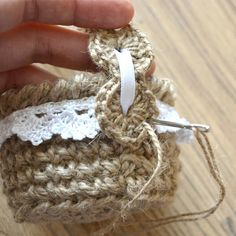 Making a rustic style Easter egg basket.
