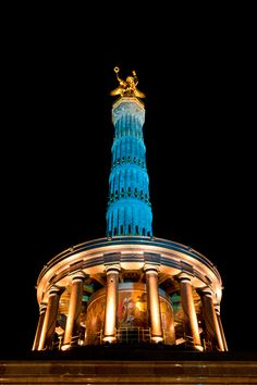 Siegessäule Festival of Lights, Berlin, Germany, i love berlin and the festival of lights in marburg was awesome! someday i will see this in berlin. Cities In Germany, East Germany, Hamburg Germany, Germany Travel, Festival Of Lights Berlin, Festival Lights, Berlin Festival, Berlin City, West Berlin