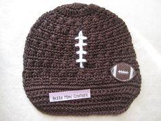 Custom Couture Infant Football Newsboy Hat / Football Hat