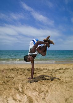 Capoeira on the beach - Namibe Angola by Eric Lafforgue, via Flickr