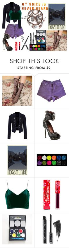 """""""Ace- Outfit 11"""" by madabby1 ❤ liked on Polyvore featuring HADES, Topshop, Lime Crime and Kitpas"""