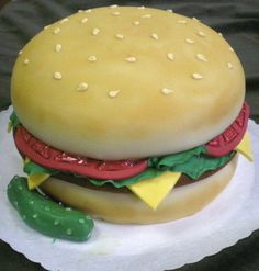 Swedish Bakery, Chicago, IL. Hamburger & Pickle cake. A feast for the eyes as well as the tummy.