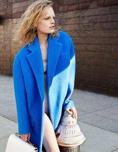 Hanne Gaby Odiele lensed by Kaiz Feng in Céline Fall 2012 coat for SModa