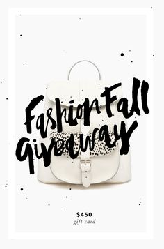 FASHION FALL GIVEAWAY | WIN A $450 GIFT CARD
