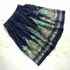 Navy Mini Skirt: Boho Skirt, Gypsy Skirt, Short Indian Flowy Bohemian Sequin Floral Cover Up from DelhiDaze on Etsy. Saved to DelhiDaze on Etsy. Boho Skirts, Cute Skirts, Short Skirts, Mini Skirts, Boho Fashion, Fashion Outfits, Skirt Fashion, Style Fashion, Gypsy Skirt