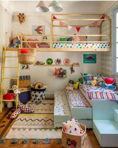 Playroom Design: Do It Yourself Playroom with Rock Wall Surface. 30 Incredible Kids Playroom Ideas - Home Decor Kids Bedroom Designs, Playroom Design, Kids Room Design, Playroom Ideas, Kids Playroom Storage, Children Playroom, Small Playroom, Colorful Playroom, Cubby Storage