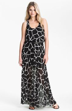 MICHAEL Michael Kors Pleated Chiffon Maxi Dress available at #Nordstrom